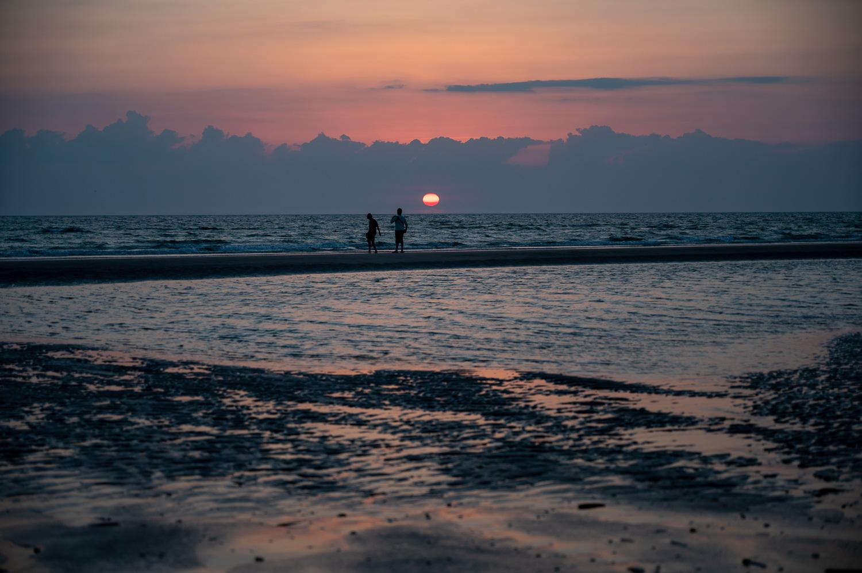 Solnedgang, Rømø - 14 juli 2021