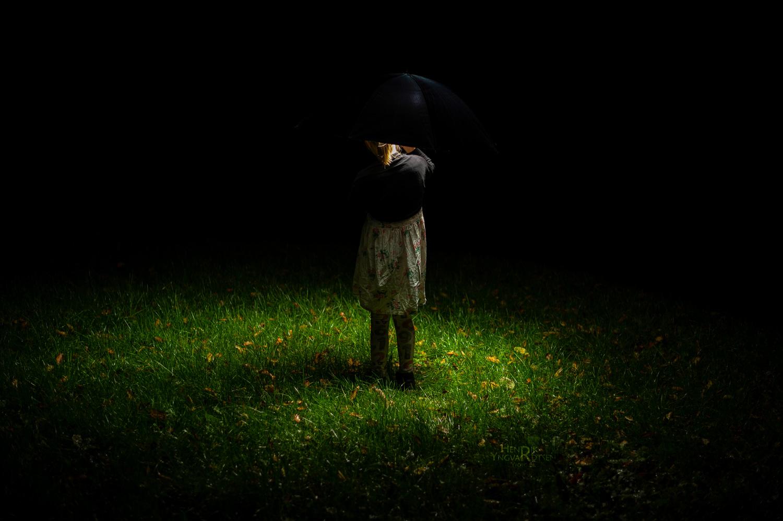 Model med Paraply